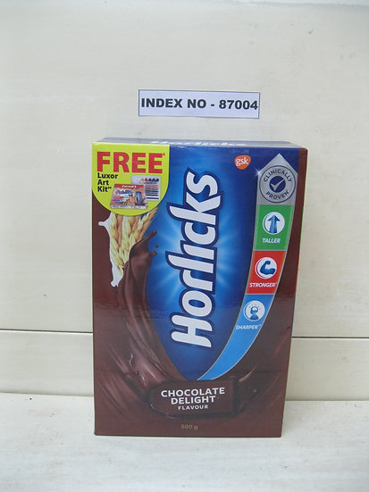 CLINICALLY PROVEN HORLICKS CHOCOLATE DELIGHT FLAVOUR 500 GMS REFILL