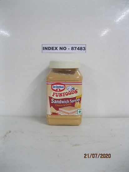 """""""DR. OETKAR BRAND"""" FUNFOODS SANDWICH SPREAD CHEESE & CHILLI EGGLESS 275 GMS"""