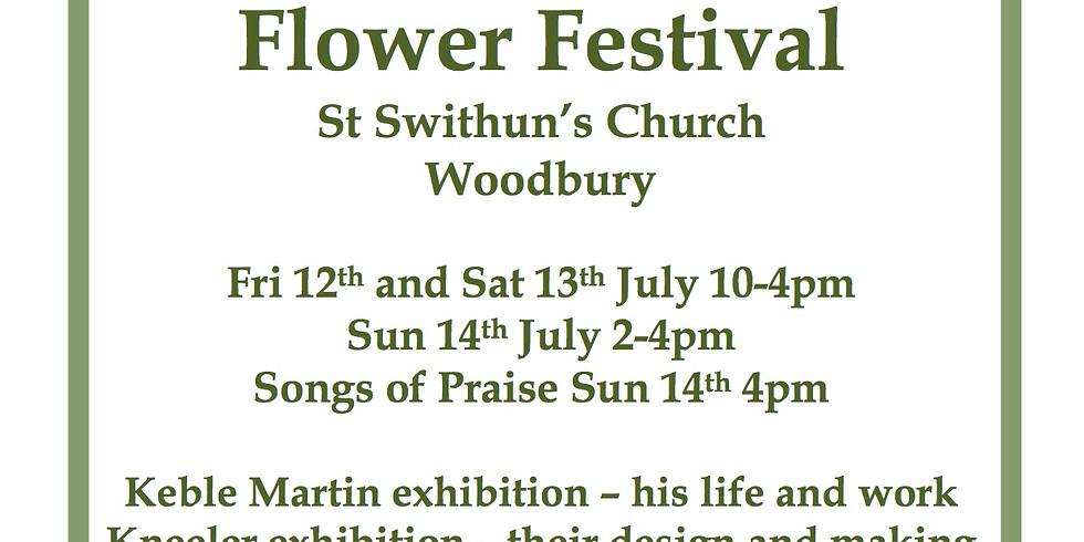Flower Festival, St Swithun's church Woodbury