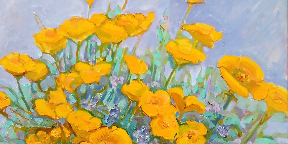 Painting wildflowers and the natural environment