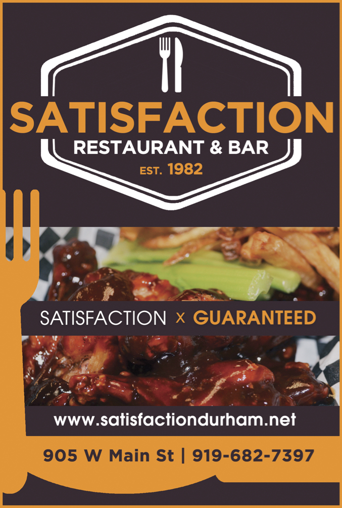 Satisfaction Restaurant & Bar Ad