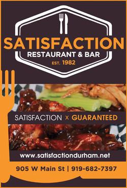 Satisfaction Restaurant & Bar Ad