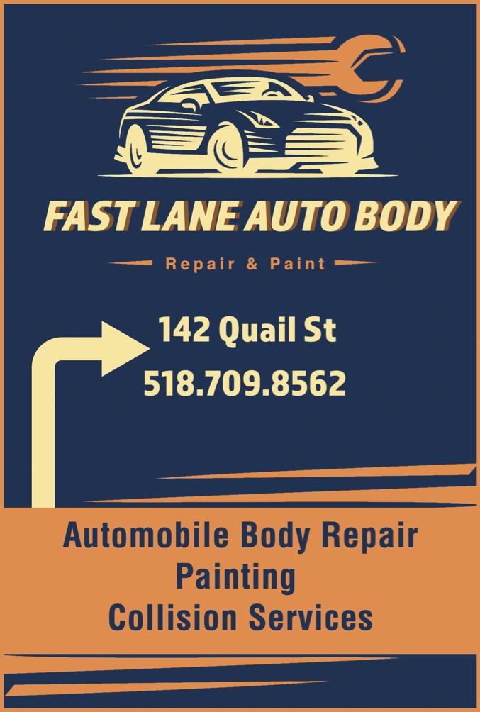 Fast Lane Auto Body Ad