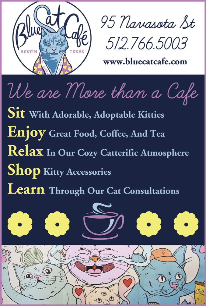 Blue Cat Cafe Ad