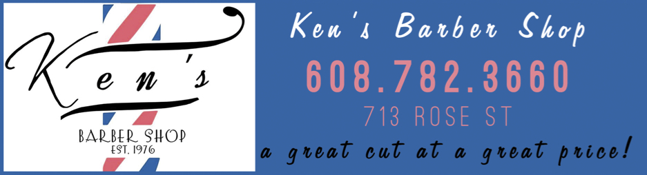 Ken's Barber Shop Ad