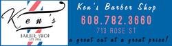 Ken's Barber Shop Ad