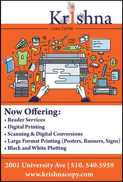 Krishna Copy Center Ad