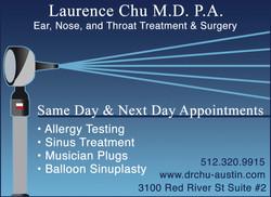 Dr. Laurence Chu Ad