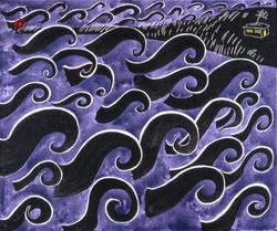 Ocean at Night  20 x 24   2002 acrylic on canvas