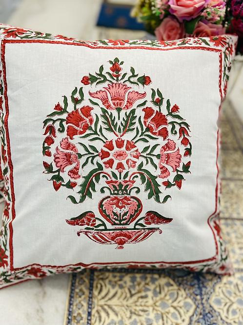 Set of 2 hand block print pillow case