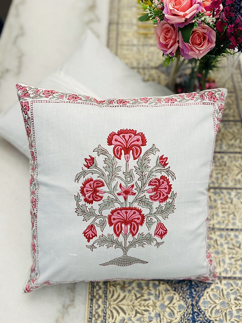 Set of 2, Hand block printed pillow cases