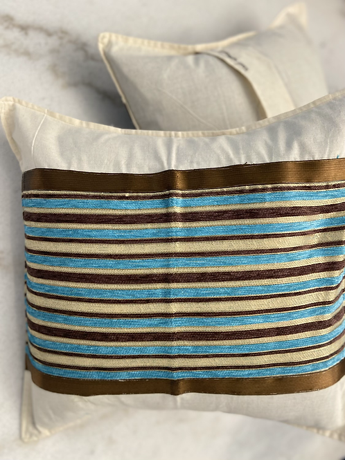Set of 2 , Twill Striped Pillow cases. l