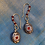 Thumbnail: Long single charm earrings gold