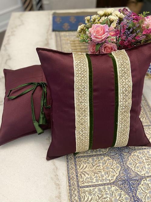 Set of 2,Polyester satin embellished pillow cases