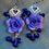 Thumbnail: floral earrings long