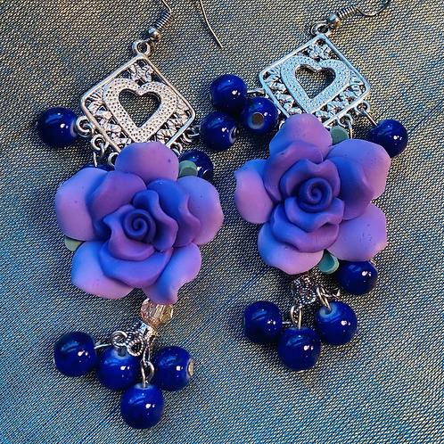 floral earrings long