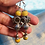 Thumbnail: Yellow long earrings silver