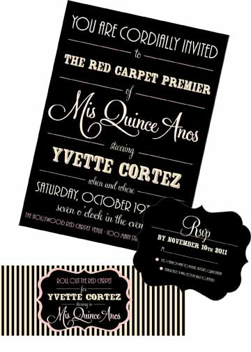 Custom Quincinera Invitations