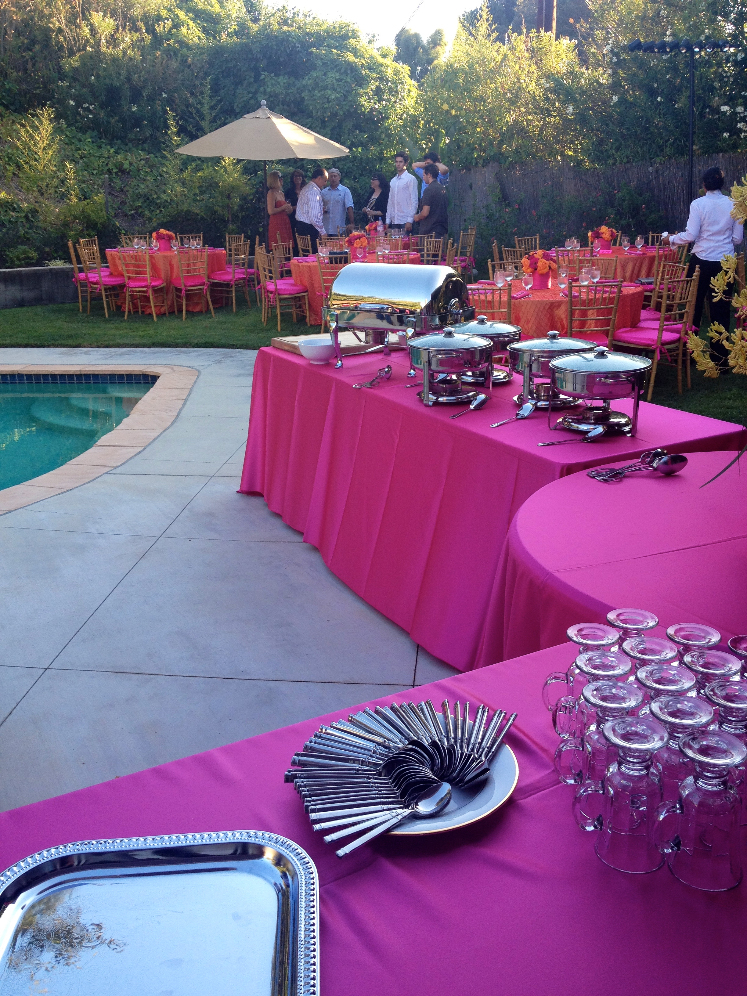 Fuschia Buffet Tables