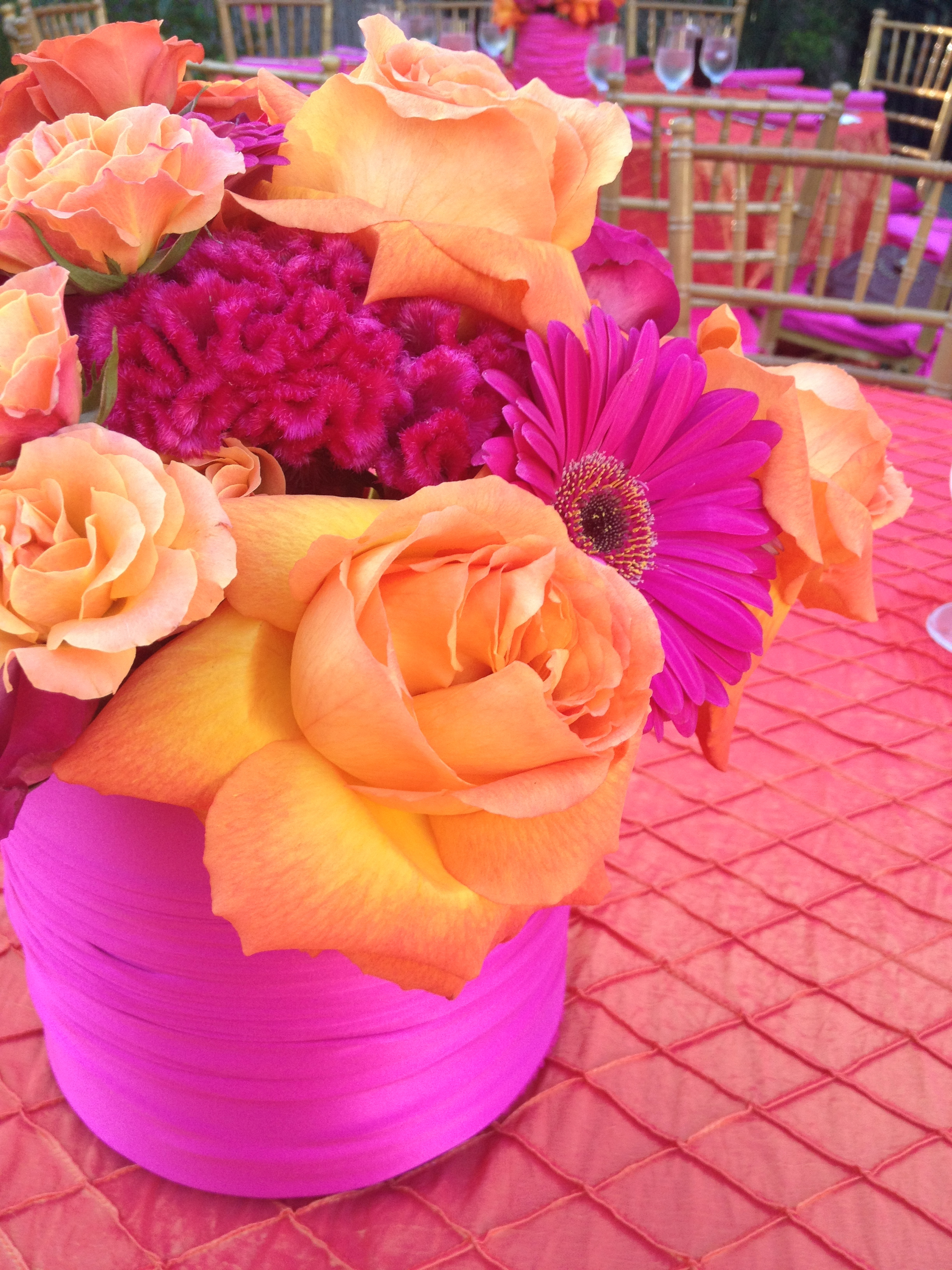 Close-up of Centerpieces
