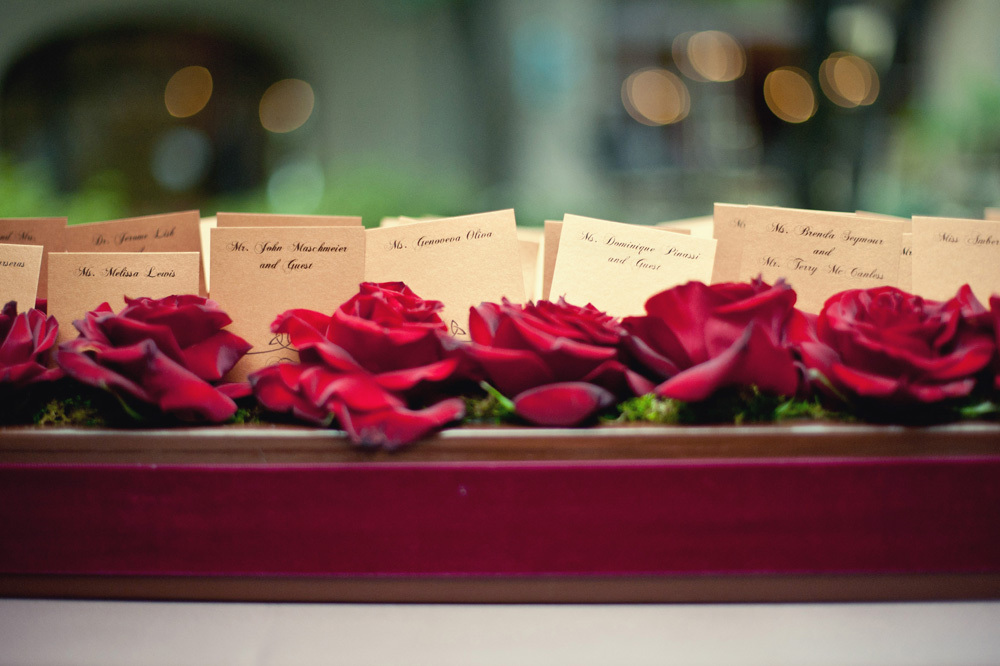 Red Rose Box for Escort Cards
