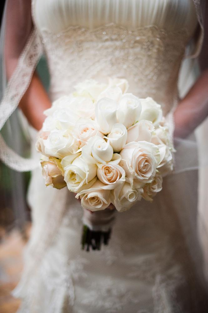 White and Blush Bride's Bouquet