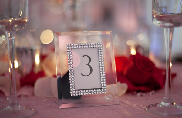 Crystal Picture Framed Table Numbers