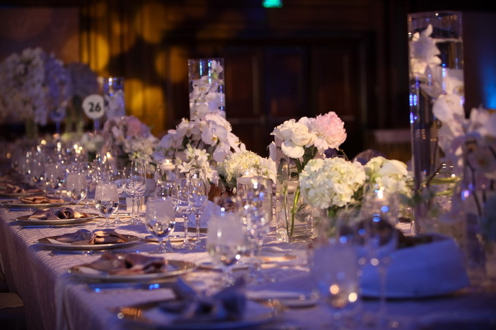 Variety of White Centerpieces