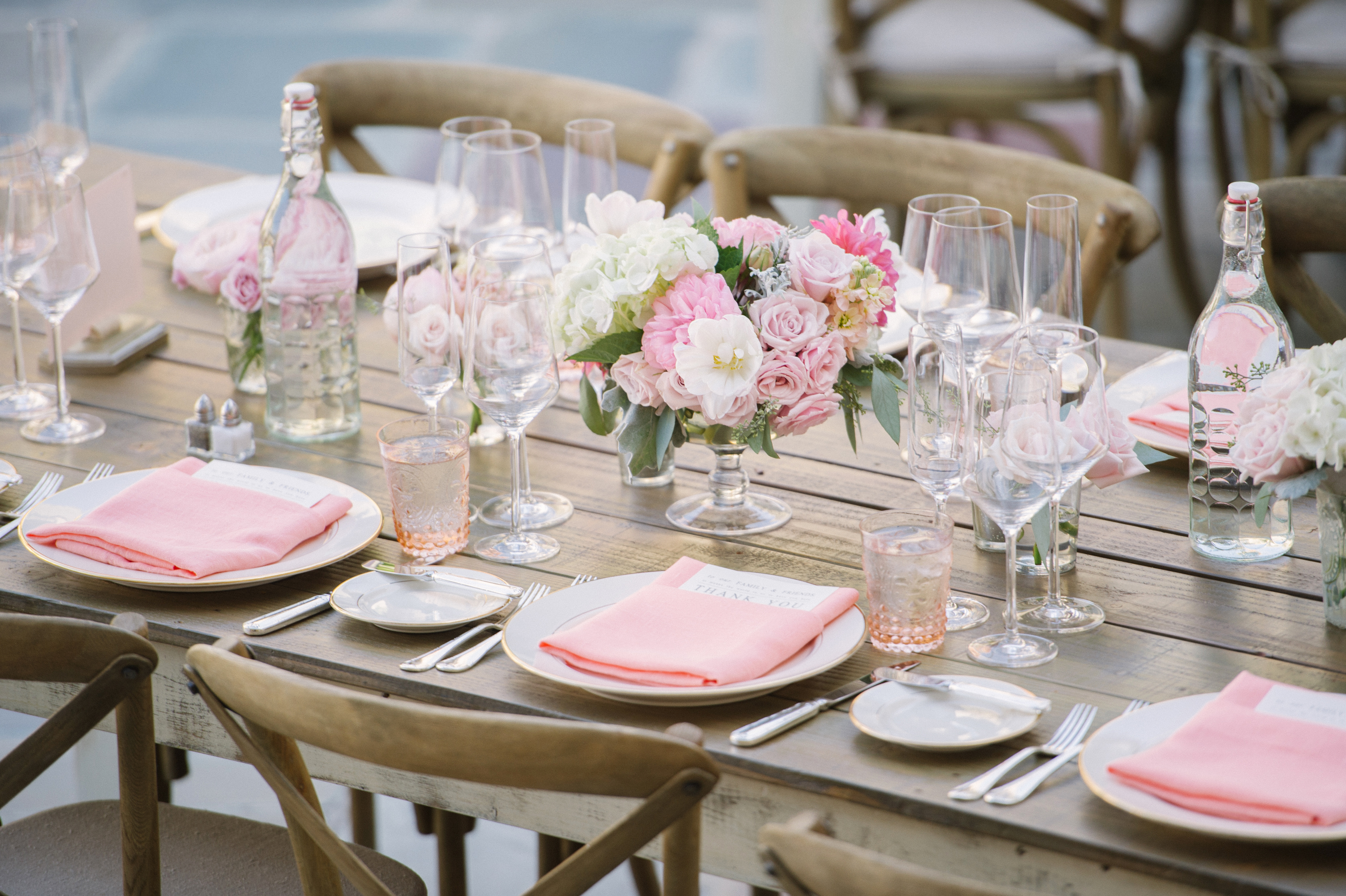 Pink and Peach Table Design