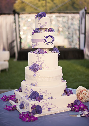 Wedding Cake with Lavender Frosting