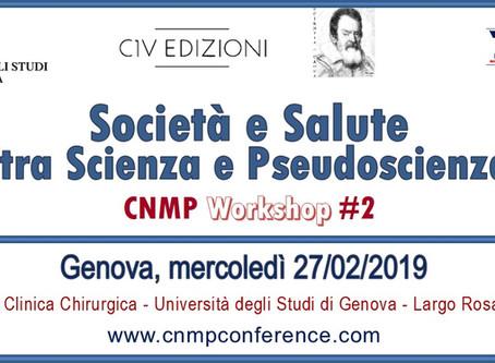 CNMP Workshop #2 - Genova, 27 febbraio 2019. Ingresso libero