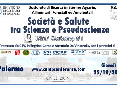 CNMP Workshop #1 - Palermo, 25 ottobre 2018. Ingresso libero