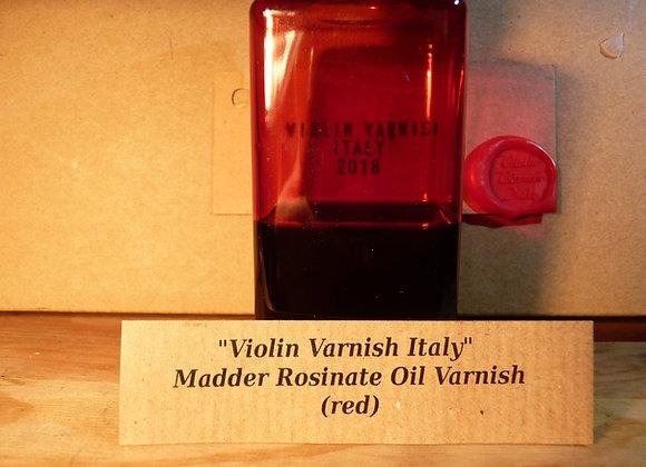 Violin Varnish Italy- Red Varnish ( Madder Rosinate) - 100ml