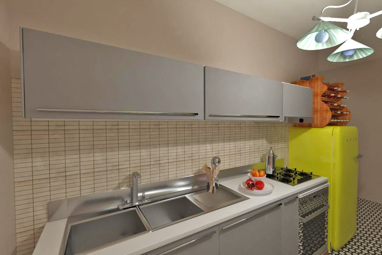 Domus 3D kitchen view