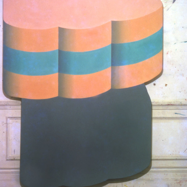 1966 88 x 64 ins Oil on Shaped Canvas