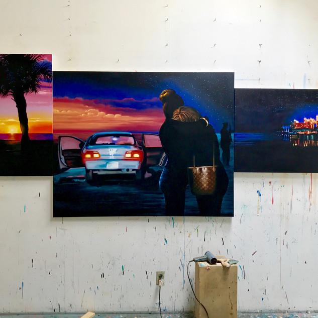 Caribbean Sunrise (Triptych)