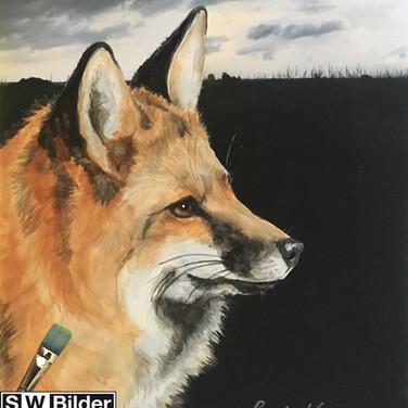 Kopie von Fotoleinwand u Acryl mit Fuchs