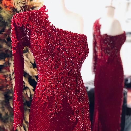 VASSAGO RED HENNA DRESS H404