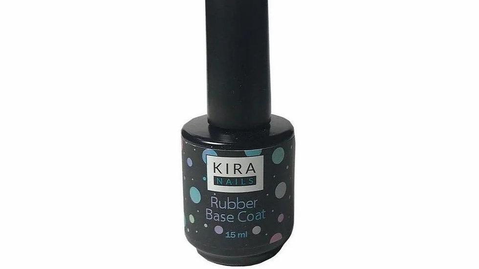Kira Nails Rubber Base Coat - каучуковое, базовое покрытие, 15 мл