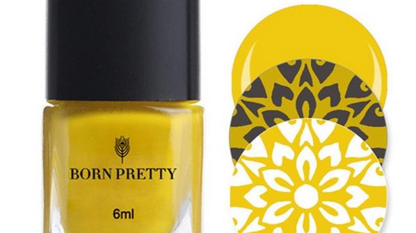 Лак для стемпинг Born Pretty желтый