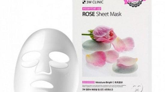 Тканевая маска с экстрактом розы 3W Clinic