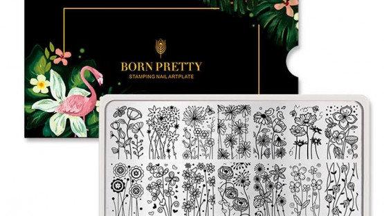 Пластина Born Pretty для стемпинга А011