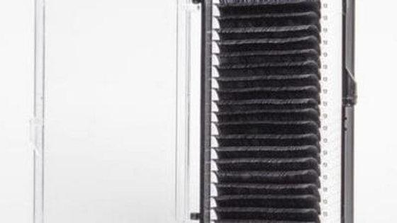 Ресницы для наращивания Onrial черные 0,07 изгиб D одна длина.