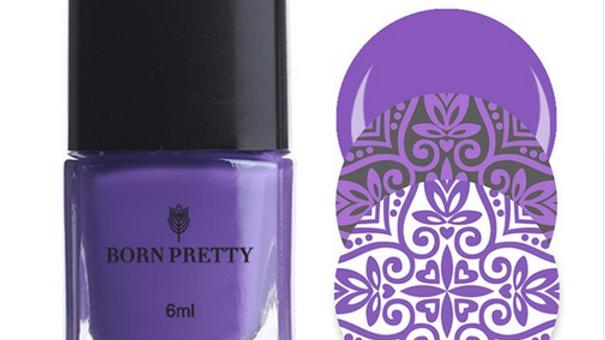 Лак для стемпинг Born Pretty фиолетовый