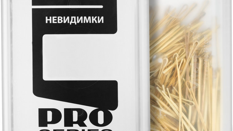 Невидимки для волос ровные, 50мм, золотистые