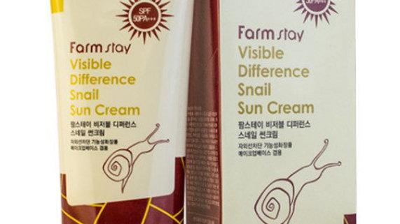 Солнцезащитный крем FarmStay SPF50PA с улиточным муцином 70 мл