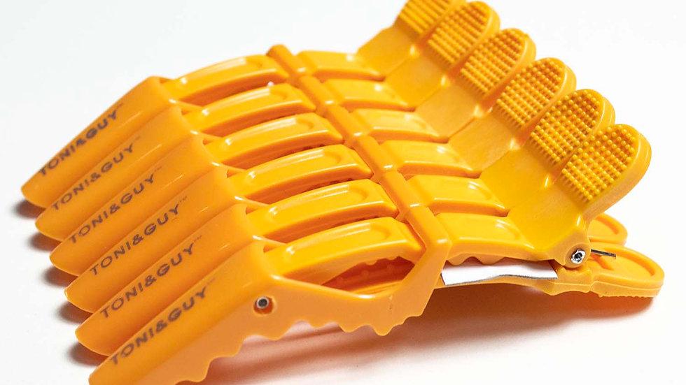 Пластиковый зажим для волос Crocodile оранжевый 6 шт