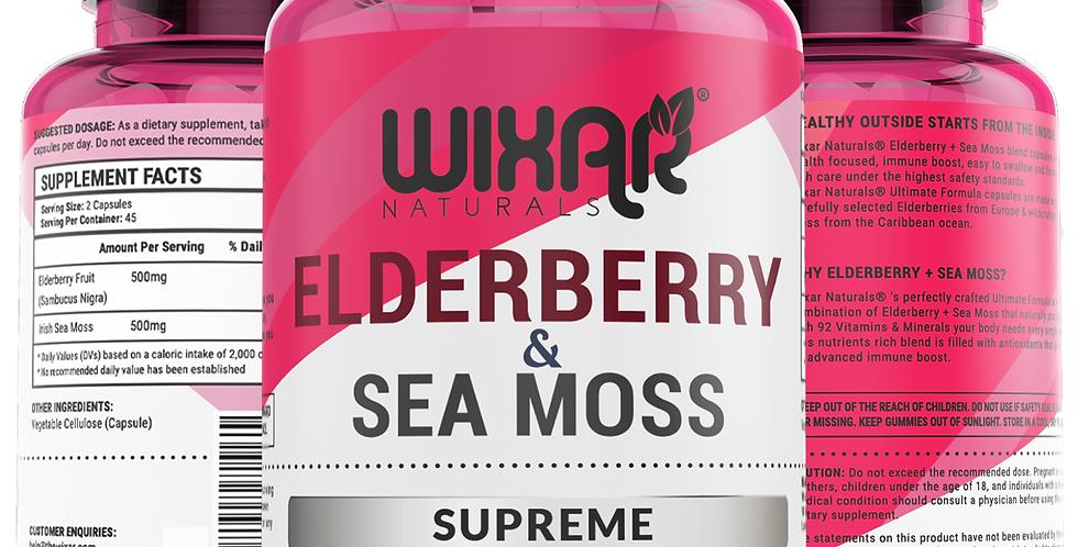 ELDERBERRY & SEA MOSS SUPREME - 90 CAPSULES