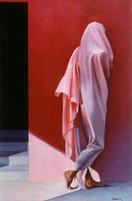 'la mujer de rosa'
