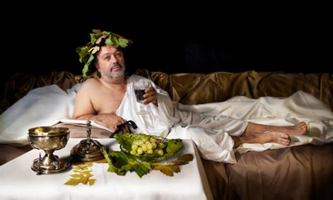 'la celebración de Baco' (Caravaggio)